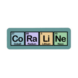 Return Label with Coraline made of Elements design