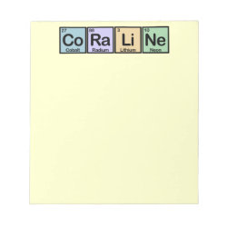 5.5' x 6' Notepad - 40 pages with Coraline made of Elements design