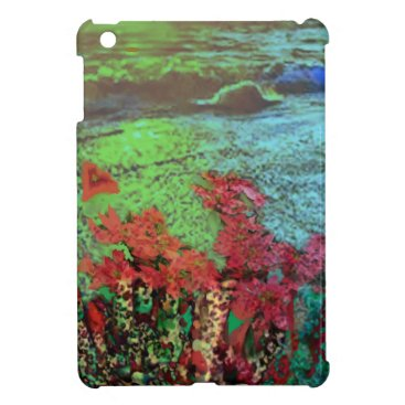 Beach Themed Corals and Flowers. iPad Mini Covers