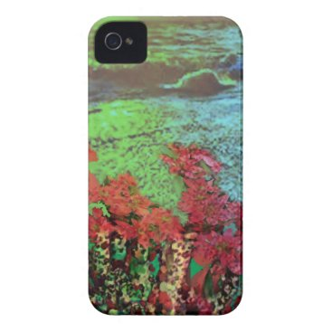 Beach Themed Corals and Flowers. iPhone 4 Case