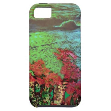 Beach Themed Corals and Flowers. iPhone SE/5/5s Case