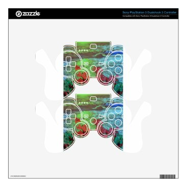 Beach Themed Corals and Flowers. PS3 Controller Skins