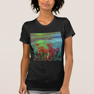 Beach Themed Corals and Flowers. T-Shirt