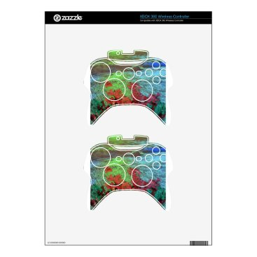 Beach Themed Corals and Flowers. Xbox 360 Controller Decal
