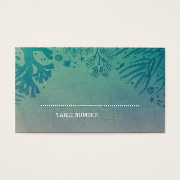 Beach Themed Corals and Tropical Ocean Treasures Teal Business Card