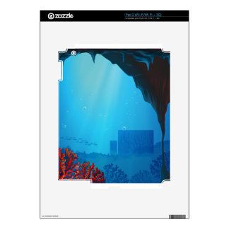 Corals inside the seacave iPad 2 skins