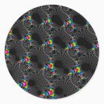 Corals - Mandelbrot Classic Round Sticker