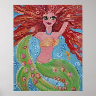 Coralyn Mermaid Posters