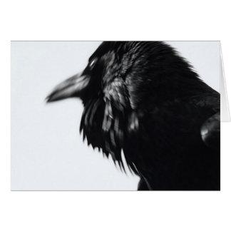 Corax del Corvus (cuervo común) Tarjeta De Felicitación