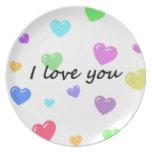 Corazón, ハート, placa platos