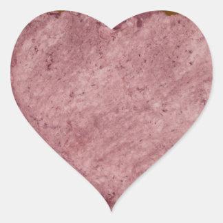 Corazón 009 del papel hecho a mano pegatina en forma de corazón