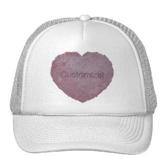 Corazón 010 del papel hecho a mano gorras de camionero