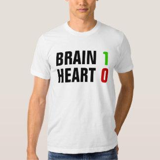 Corazón 0 del cerebro 1 playeras