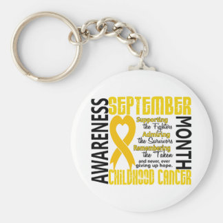 Corazón 1,5 del mes de la conciencia del cáncer de llavero redondo tipo pin