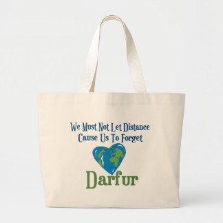 Corazón 1 de Darfur Bolsa Tela Grande