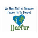 Corazón 1 de Darfur Tarjeta Postal