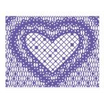 Corazón 1 del cordón - ascendente cercano de la postal