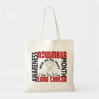 Corazón 1 del mes de la conciencia del cáncer de p bolsa tela barata