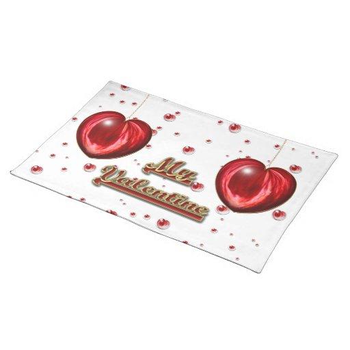 Corazón #1 mantel individual