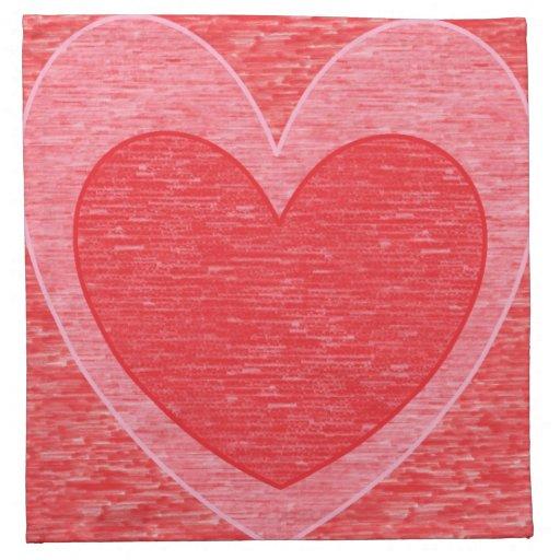 Corazón 1 servilletas de papel