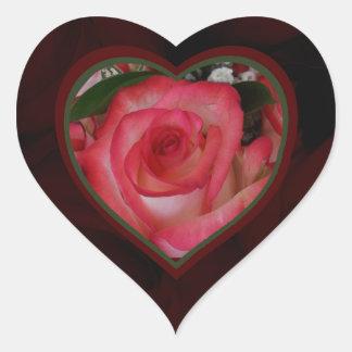 Corazón 1b de los rosas rojos y blancos colcomanias corazon