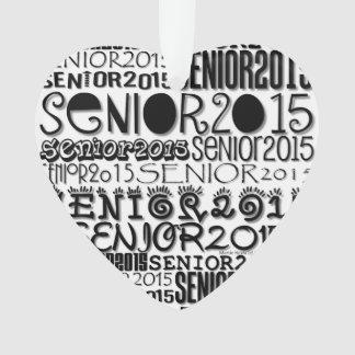 Corazón 2015 - ornamento del mayor del espejo
