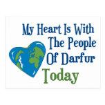 Corazón 2 de Darfur Postal
