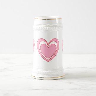 Corazón 2 jarra de cerveza