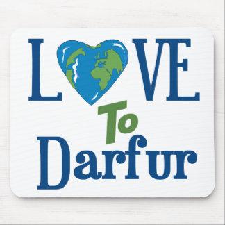 Corazón 3 de Darfur Alfombrillas De Ratones