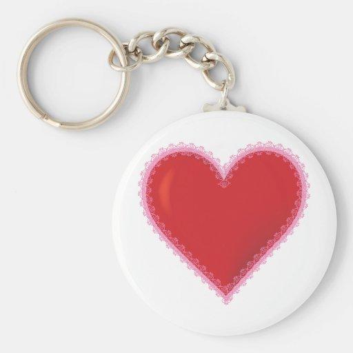 corazón 3D Llavero Redondo Tipo Pin