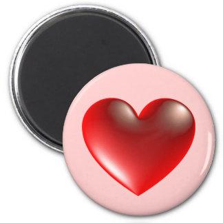 corazón 3d vidrio imán