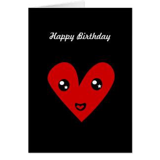 Corazón 44 del feliz cumpleaños tarjeta de felicitación