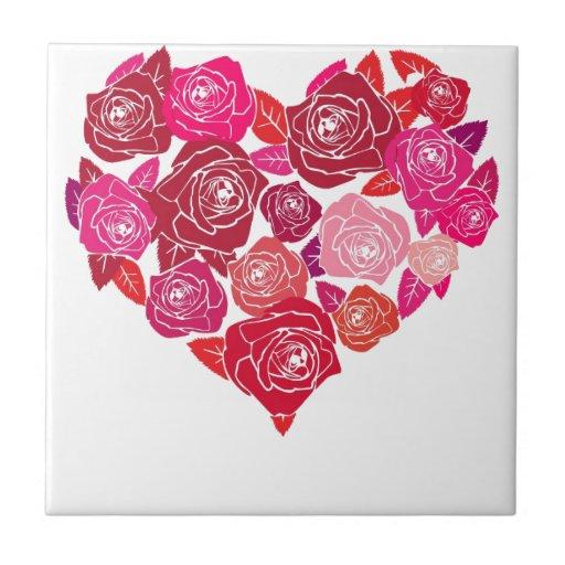 corazón 5 del amor azulejo ceramica