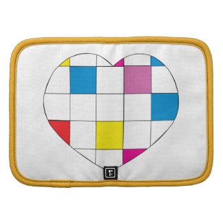 Corazón a cuadros coloreado organizador