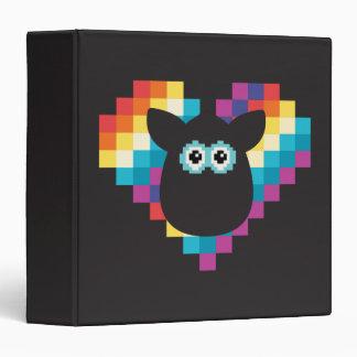 """Corazón a memoria de imagen de Furby Carpeta 1 1/2"""""""