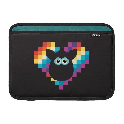 Corazón a memoria de imagen de Furby Funda MacBook