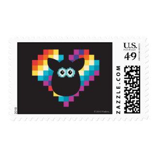 Corazón a memoria de imagen de Furby Timbre Postal