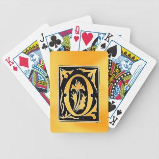 Corazón abierto de la letra de O-O para el amor Baraja Cartas De Poker