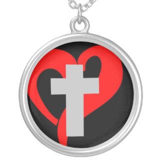 Corazón abierto del cristiano (oscuro) colgante