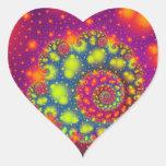 Corazón abstracto decorativo de neón espiral calcomania corazon personalizadas
