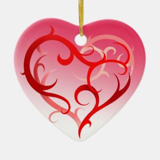 Corazón abstracto el   de Curlique rosado Adorno De Reyes