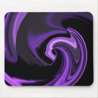 Corazón abstracto púrpura Amethyst Mousepad