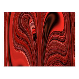 ¿Corazón abstracto rojo y negro del diseño? Tarjetas Postales