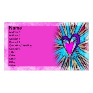Corazón abstracto tarjetas de visita