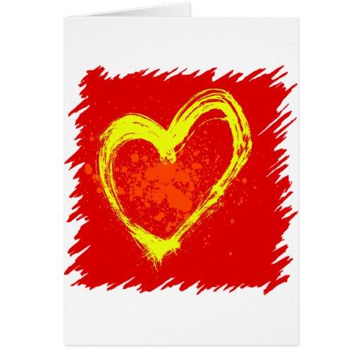 Corazón abstracto tarjeta de felicitación