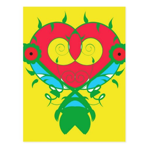 Corazón abstracto tarjeta postal