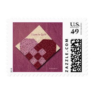 Corazón acolchado sellos