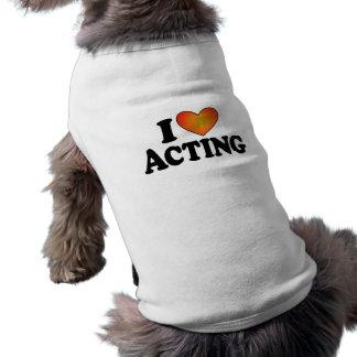 (Corazón) actuación I Playera Sin Mangas Para Perro