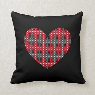 Corazón adaptable del diamante cojín decorativo