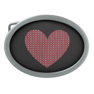Corazón adaptable del diamante hebilla cinturon oval